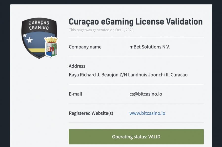 bitcasino-license
