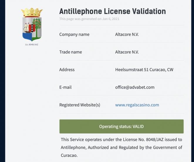 regals-license